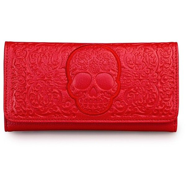 Loungefly Red On Red Lattice Skull Wallet 32 € / Pic: Polyvore